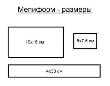 Mepiform razmeri